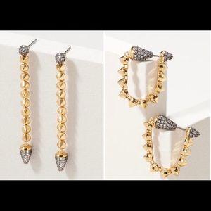 Stella & Dot Renegade Linear Earrings NWOT